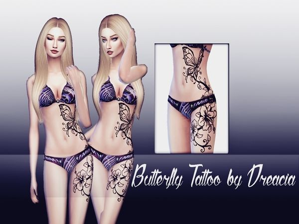 Butterfly Tattoo Dreacia Sims Sims 4