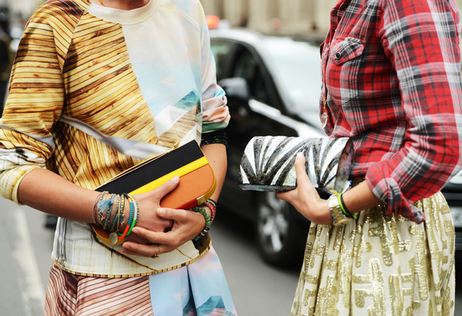 Mary Katrantzou Resort 2014 Sea Gauge Sweater and Skirt at Paris Couture Week