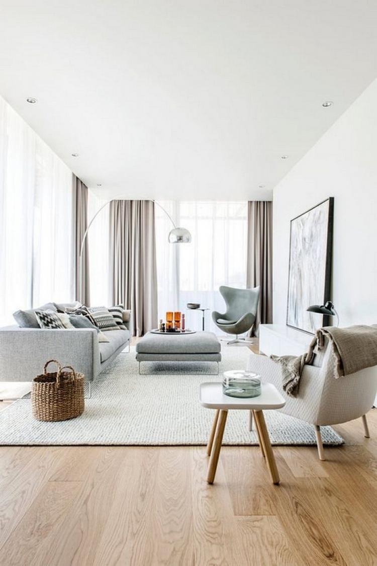 Beautiful Modern Minimalist Living Room Scandinavian Decor