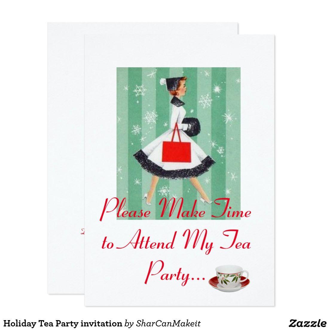 Holiday Tea Party invitation | Tea Party Invitiation | Pinterest ...