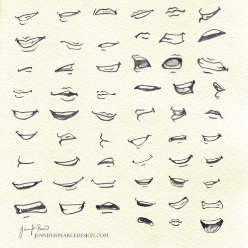 Drawingden Lots Of Mouths By Rovanna Mouth Drawing Smile Drawing Anime Mouth Drawing