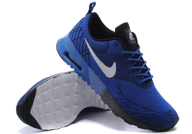 12285b7a5dc Men Nike Air Max Thea Flyknit 90 Game Royal Silver Black