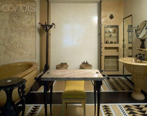 Jeanne Lanvin/ Art Deco bathroom for Jeanne Lanvin (1920–22) Design ...