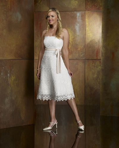 Informal Wedding Dresses Designer Tea Length Dress