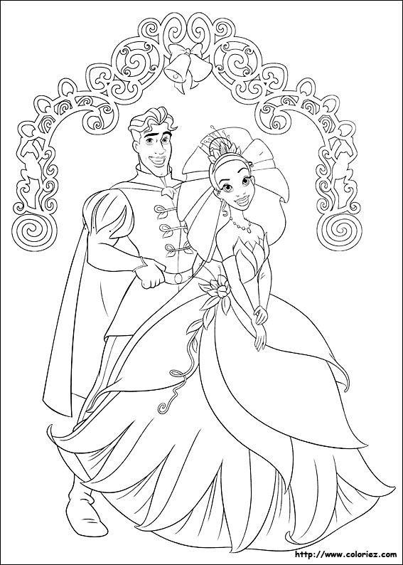 Coloriage La Princesse Et La Grenouille Princess Coloring Pages