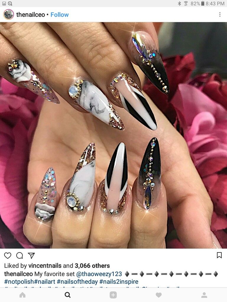 Pin de Maria🎀 en nails | Pinterest | Diseños de uñas, Uñas largas y ...