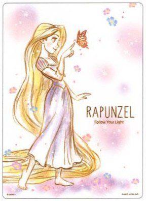 ラプンツェル ディズニー プリズムガーデン下敷き 85705 Rapunzel