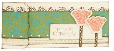 Just 1 out the 5 cards we will be making for the month of June in my Card Making Class.  Come and join in the fun!