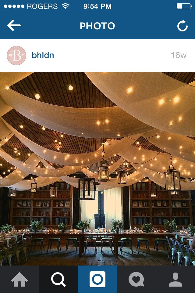 Fabric from the ceiling details! From bhldn blog
