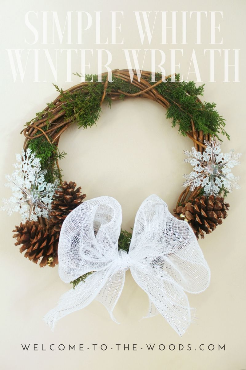 Simple White Christmas Wreath | Wreaths, Tutorials and Funky junk