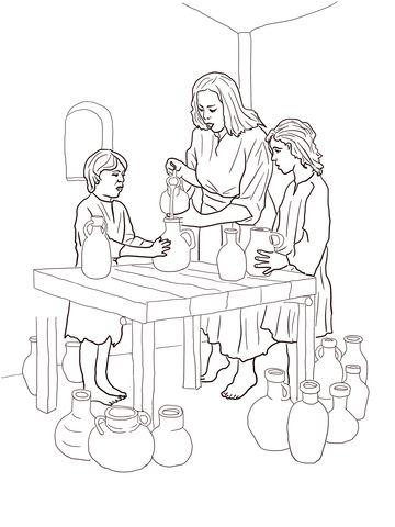 Elisha Helps Widow Coloring Page From Prophet Elisha Category