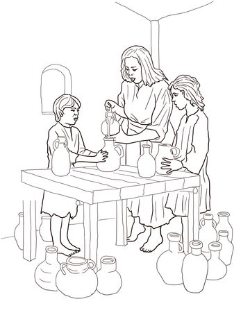 Elisha Helps Widow Coloring Page From Prophet Elisha Category