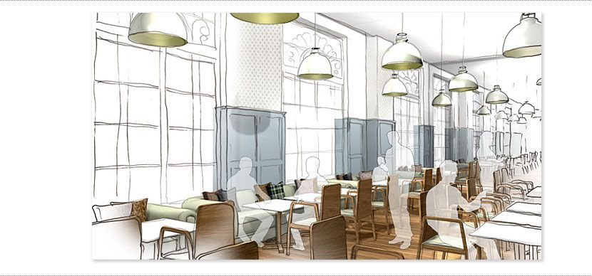 Restaurant design by q interior ltd disegni