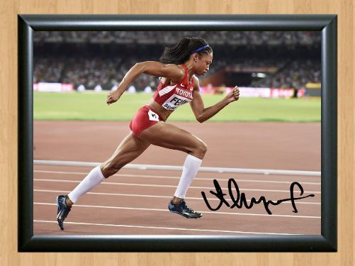 Allyson Felix Olympic Rio 2016 Autographed Signed A4 Print Photo Memorabilia 2