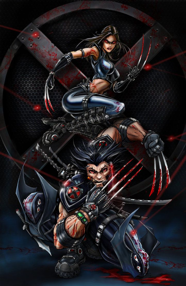 X-Force Wolverine and X 23 by Jamie Tyndall
