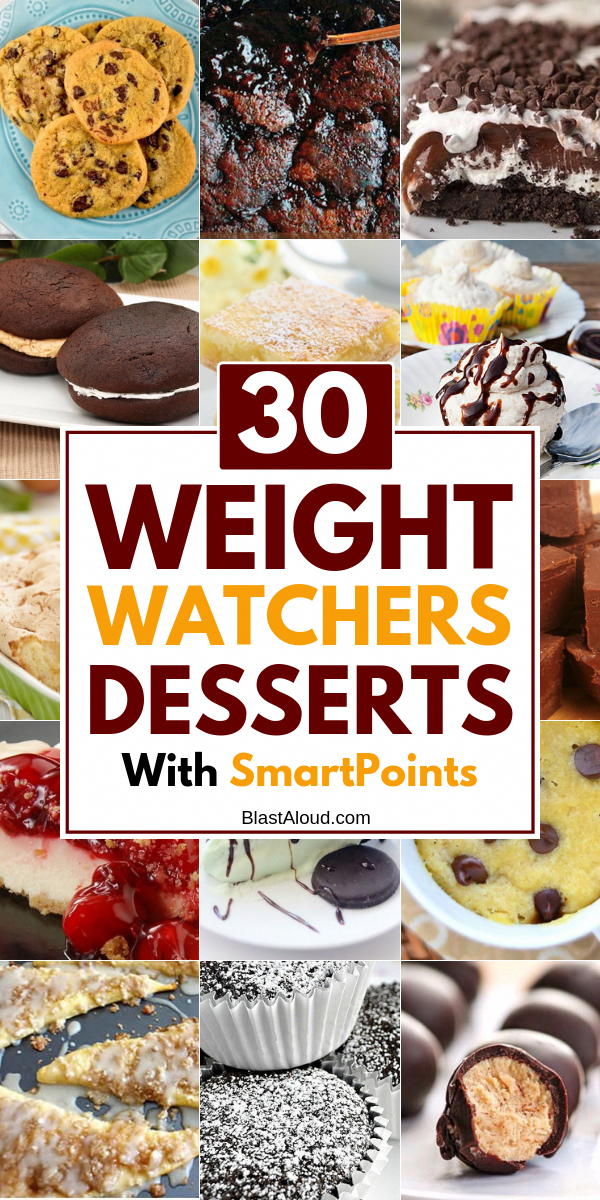 30 Delicious and easy weight watchers desserts recipes with SmartPoints. Enjoy these healthy desserts and still lose weight!