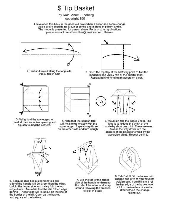 Free folding diagram tip basket money origami instructions money free folding diagram tip basket money origami instructions mightylinksfo