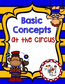 Week 2 - Basic Concepts at the Circus(VALUE: $5.50)Welcome to the Big Show! There are 36 printable picture cards in this set (available in color and black and white). Each card has a concept targeted with picture for multiple choice picture responses.