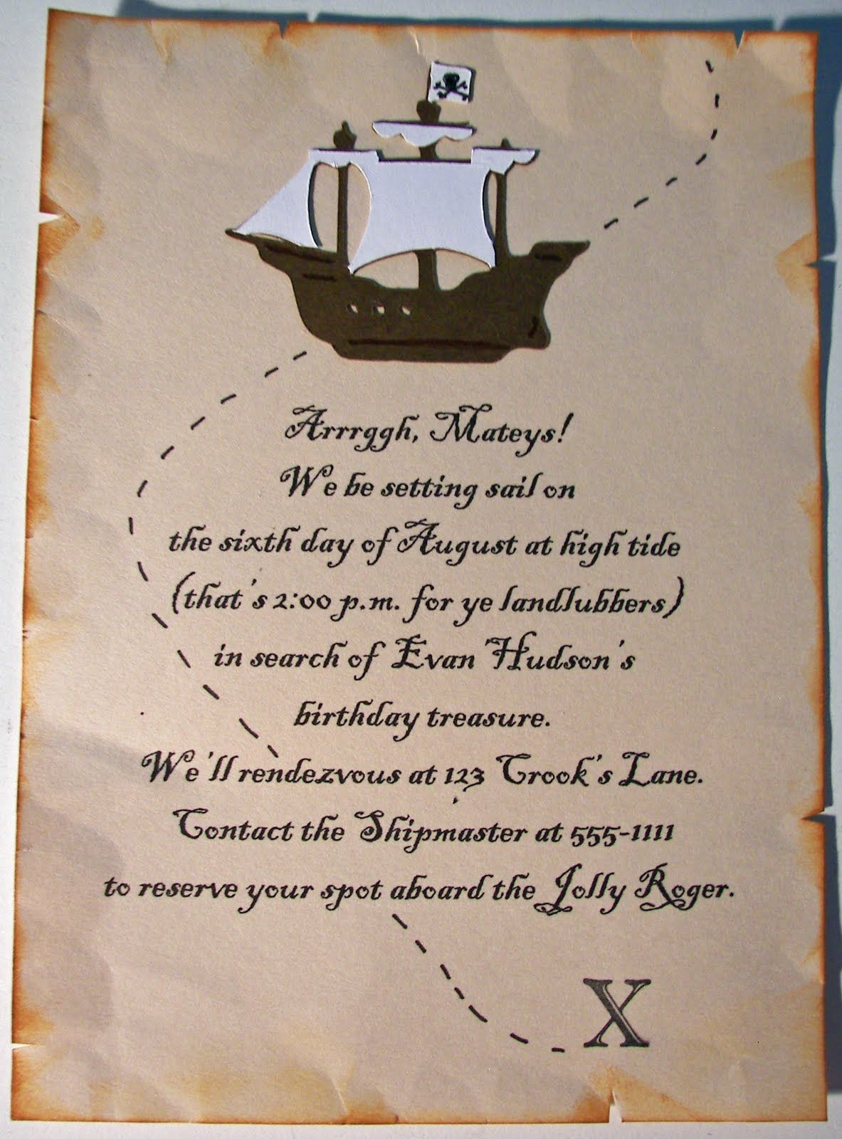 Pirate party invitation | Other Stuff I\'ve Made | Pinterest | Party ...