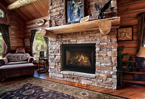 I Love How Cozy This Gas Fireplace Looks With The Brick