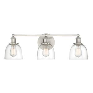 Home Decorators Collection Evelyn 3-Light Brushed Nickel ...