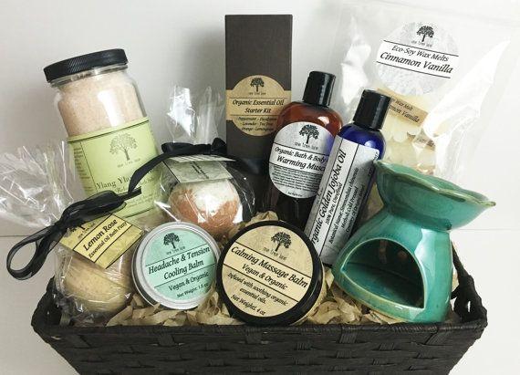 Beautiful Organic Vegan Aromatherapy Relaxation Gift Basket The Perfect By ShopOneTreeLane