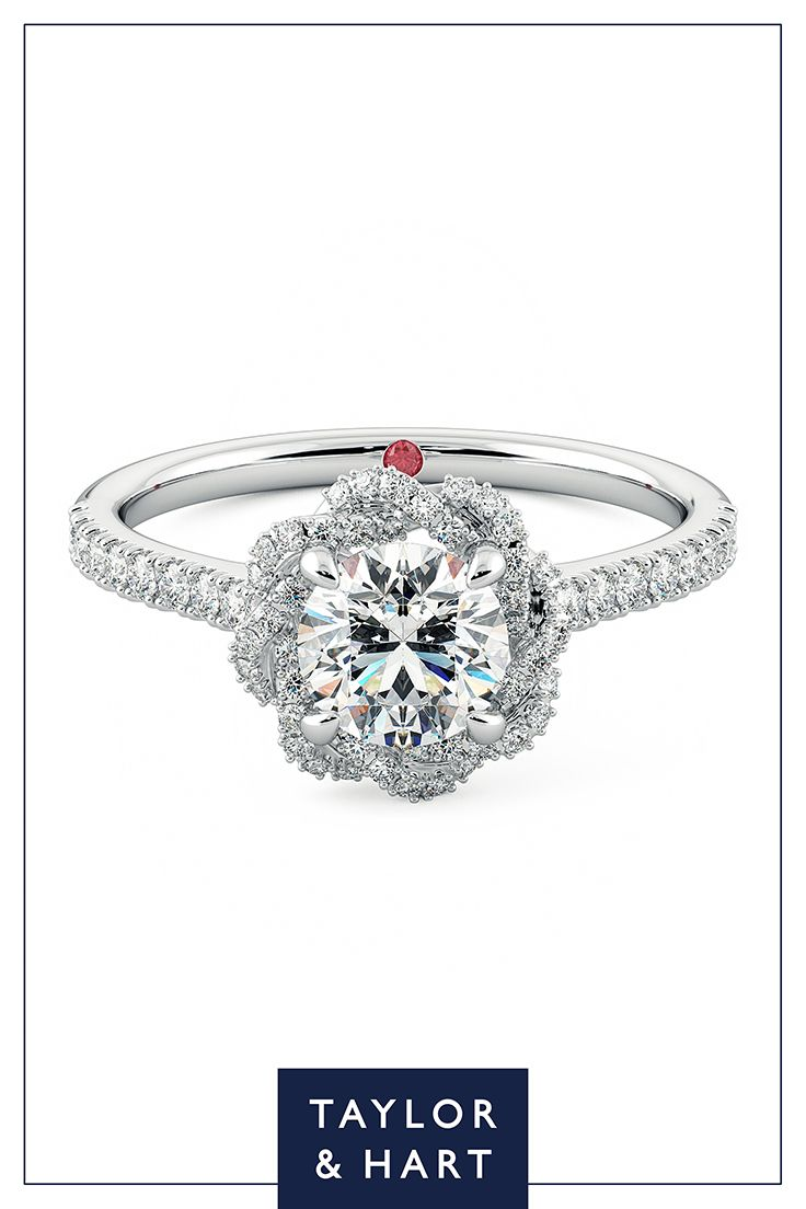Be bold and daring with this statement diamond pave engagement ring