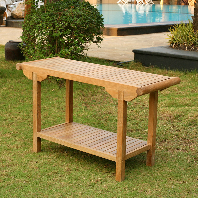 Tortuga Outdoor Jakarta Console Table Teak Patio Furniture Teak Outdoor Furniture Wood Patio