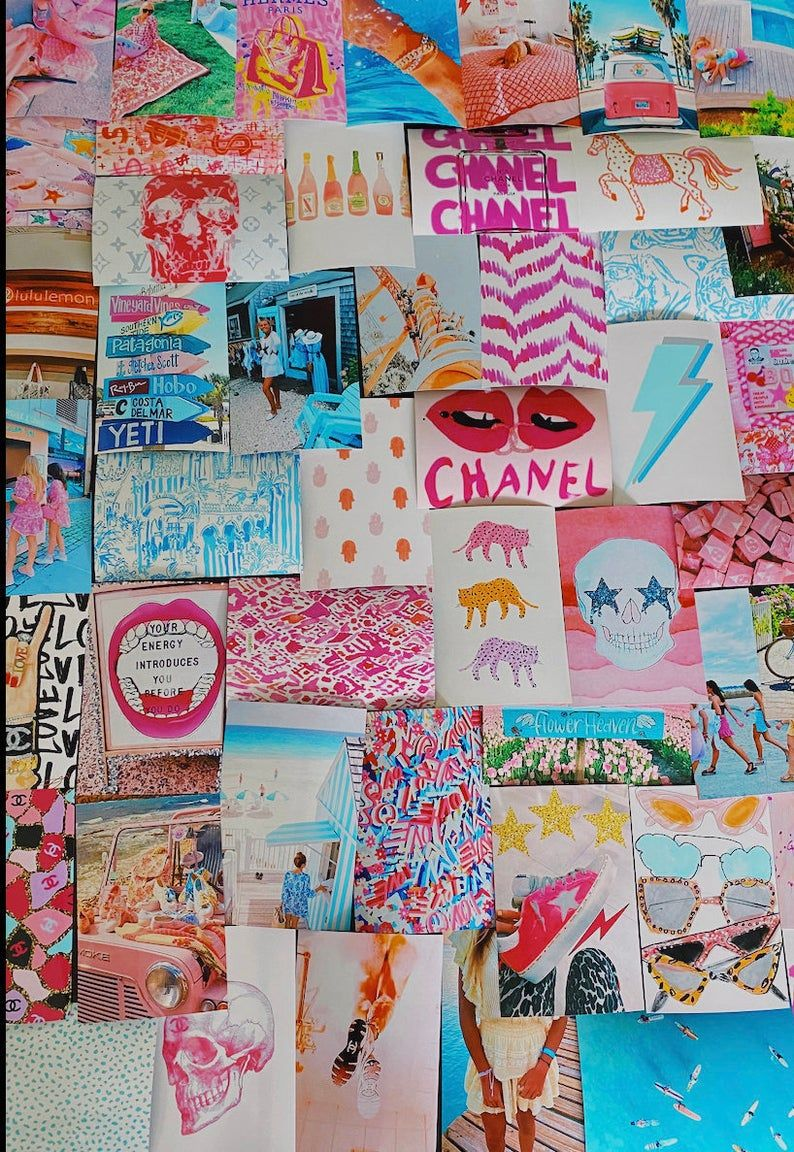Beachy Preppy Wall Collage Kit (Digital Download)