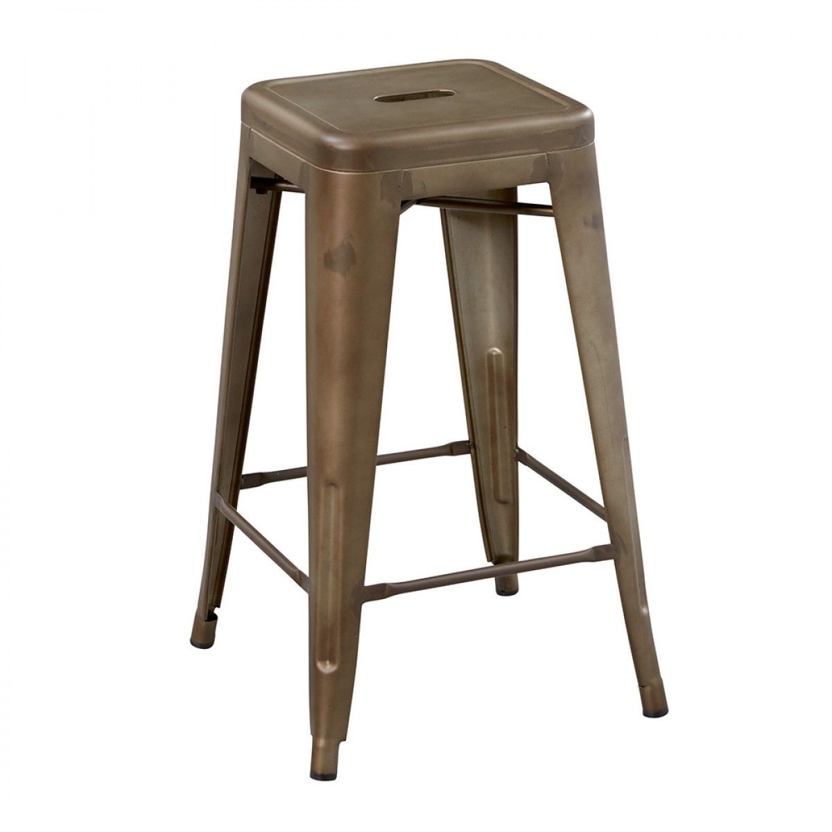 Paxton Copper Finish Barstool 26 Inch Counter Stools Backless Bar Stools Metal Bar Stools 26 inch metal bar stools