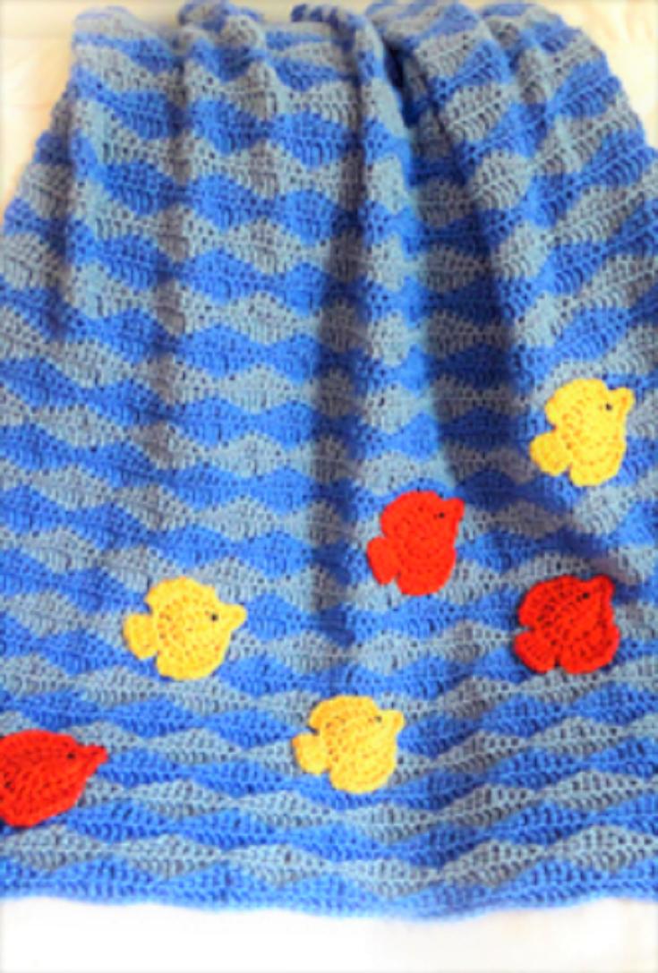 Crochet Pattern: Fish in Ocean Afghan   Afghans, Crochet and Patterns