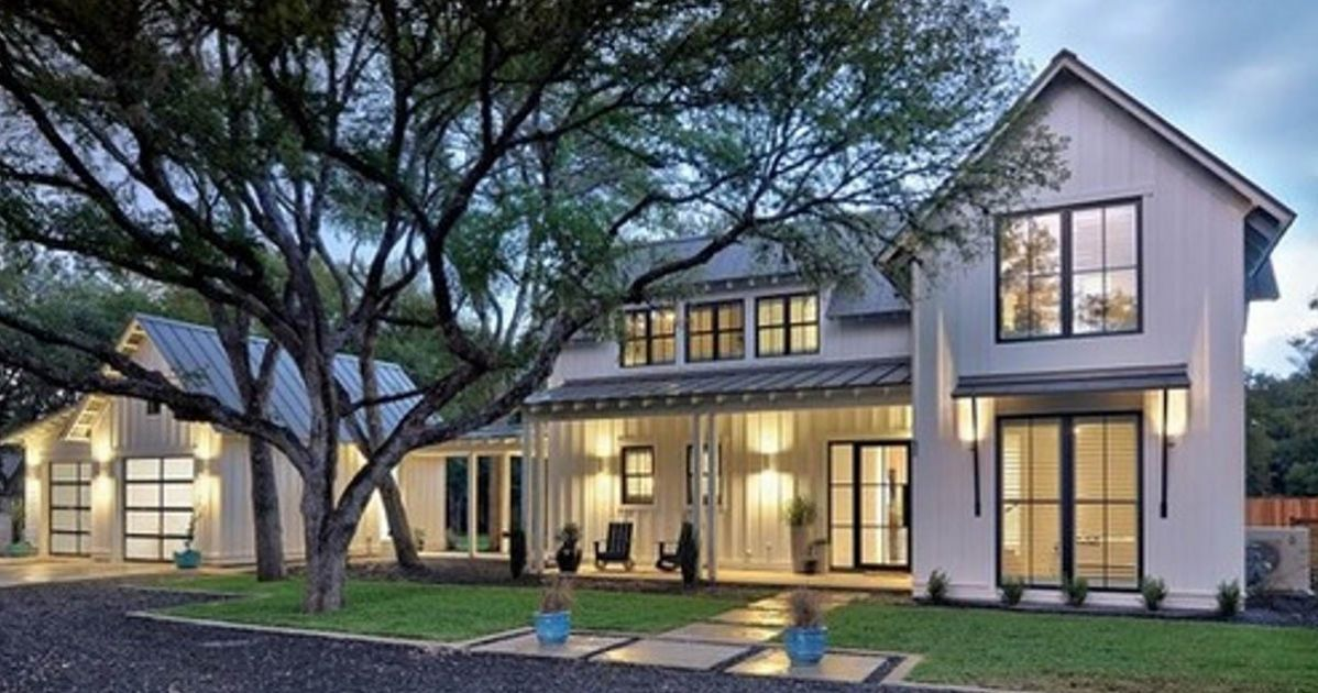 . This home  dubbed the  Modern Farmhouse  on its designer s website