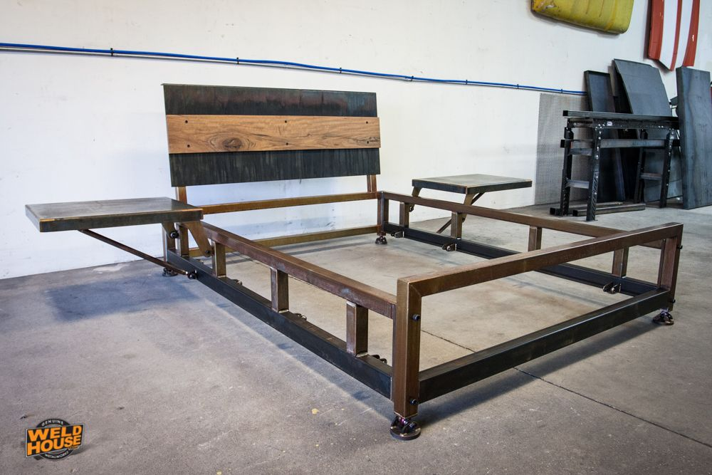 Resultado de imagen de steel welded bed frame | Decoration ideas ...
