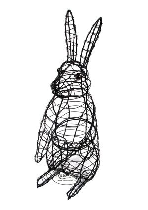 Rabbit (Hopping) Topiary Frame | Wire sculpture | Pinterest ...