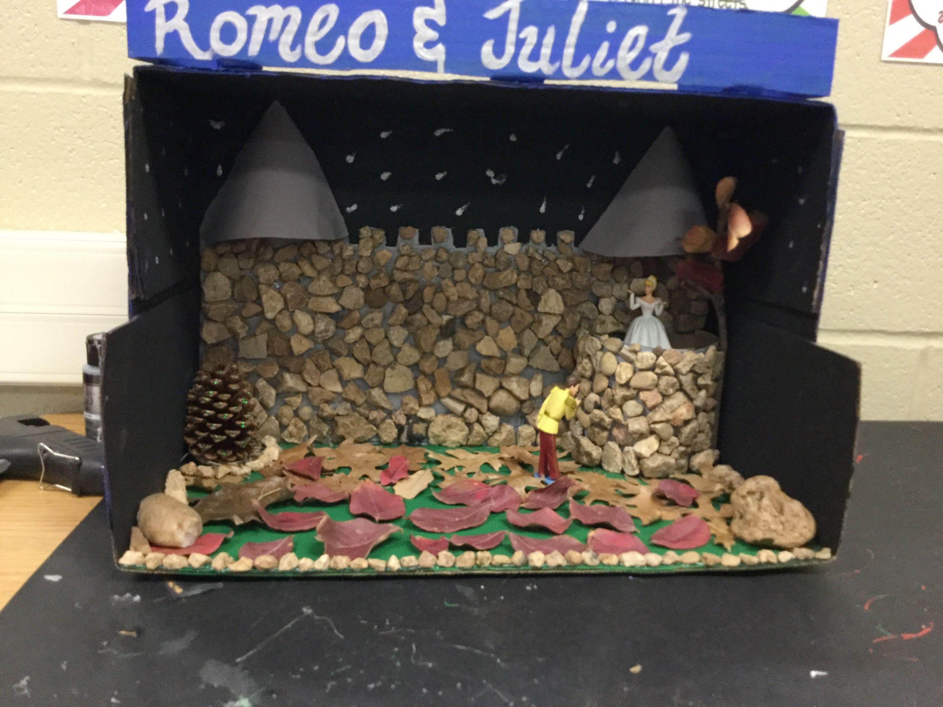 romeo juliet shoe box diorama things i have made romeo juliet shoe box diorama shoe box. Black Bedroom Furniture Sets. Home Design Ideas