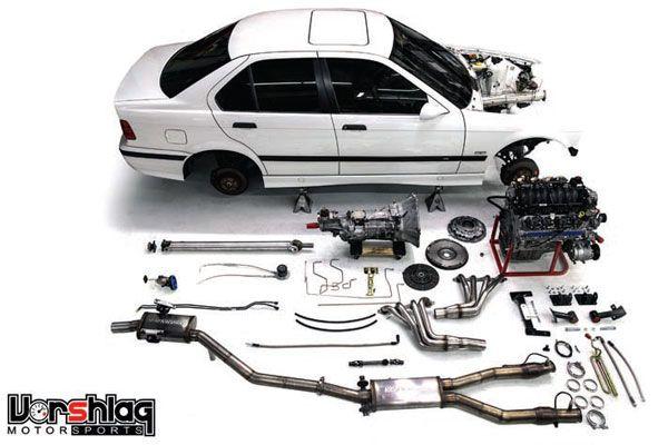 Vorshlag Motorsports makes many LS swap kits for BMWs  This