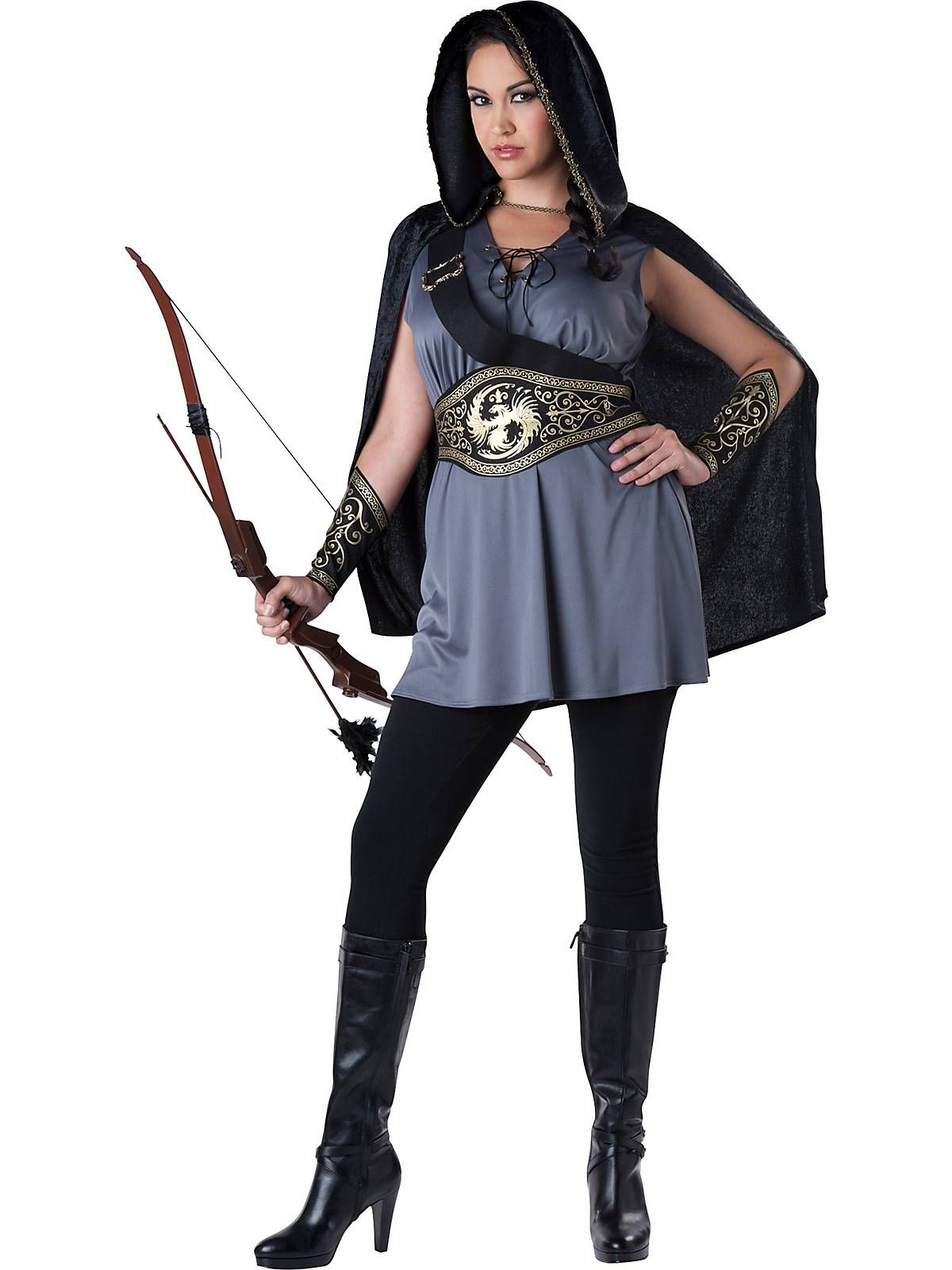 dress to kill this halloween while wearing this huntress plus size