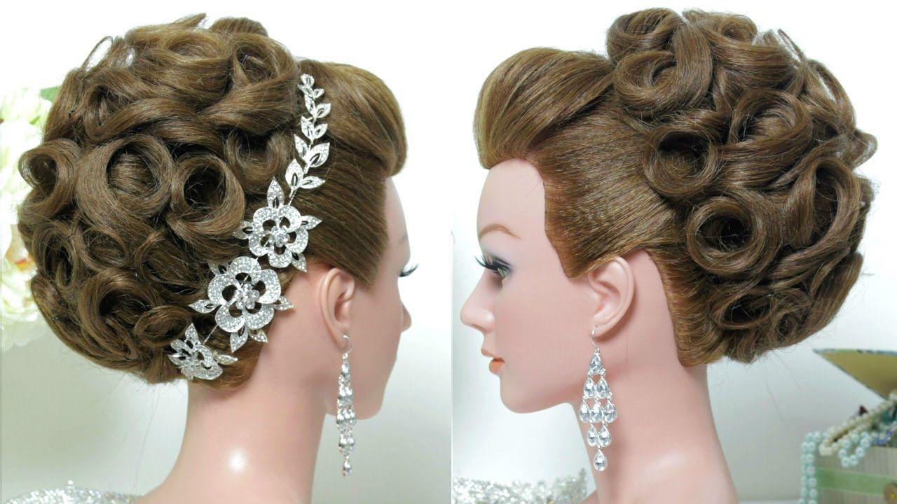 bridal hairstyle. wedding updo for long hair tutorial. | peinados