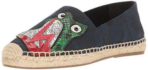 Marc  Jacobs  womens  sienna  frog  flat  espadrille  sandal  navy  multi