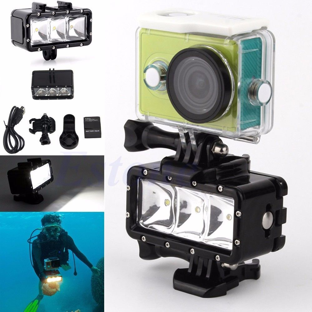 Underwater Waterproof Diving Spot Light LED Mount For GoPro Hero 4 3 Camera Unbranded