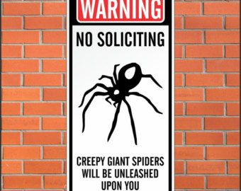 Warning - No Soliciting Sign - Funny Sign - 12 x 24 Aluminum Sign #nosolicitingsignfunny