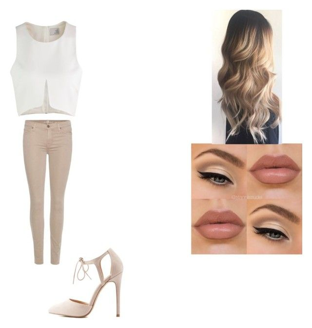 """Başlıksız #42"" by nisanurkusoglu ❤ liked on Polyvore featuring 7 For All Mankind and Charlotte Russe"