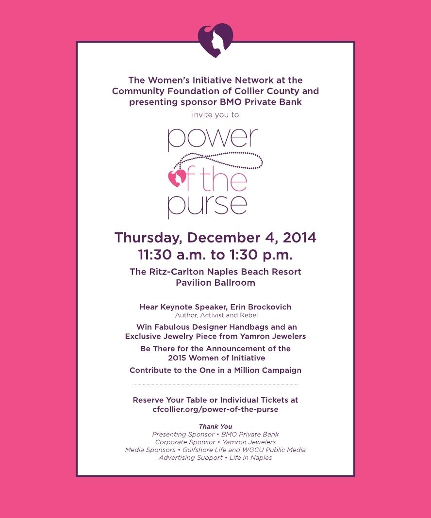 Your invitation to the Power of the Purse 2014