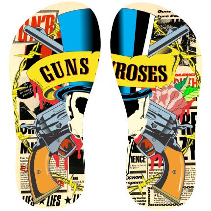 Estampa para chinelo Guns N Roses 000293 Customize