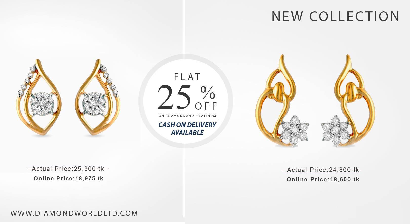 Stunning Diamond Earrings At Amazing Prices! Buy Now:  Diamondworldltd