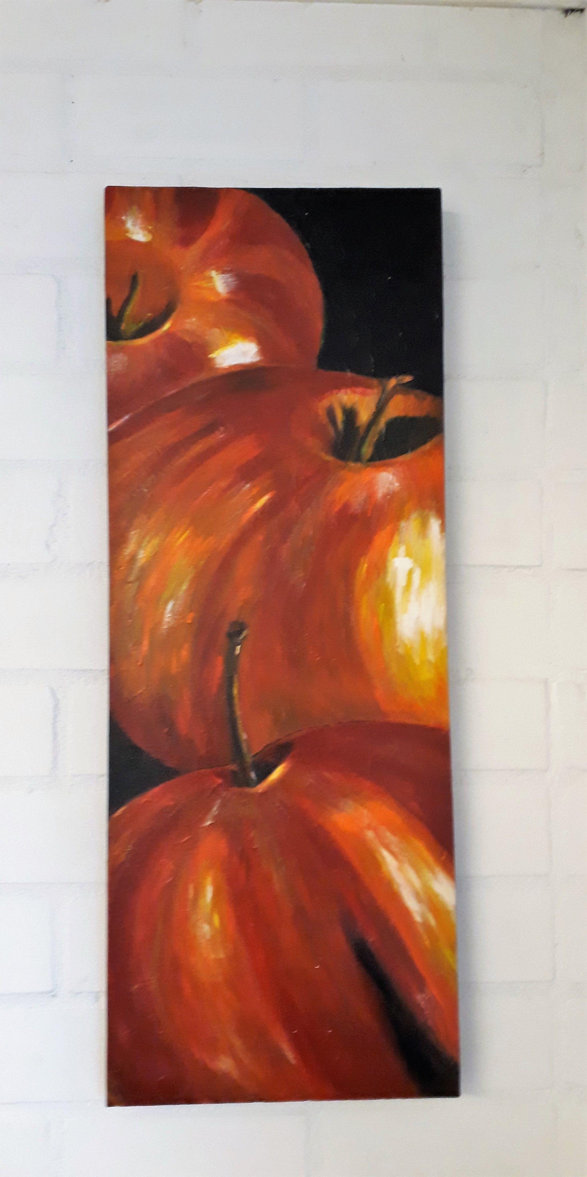 schilderij appel