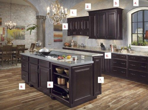 Wall Color Espresso Cabinets Interior Design Online Shaker Wood Kitchen Bathroom