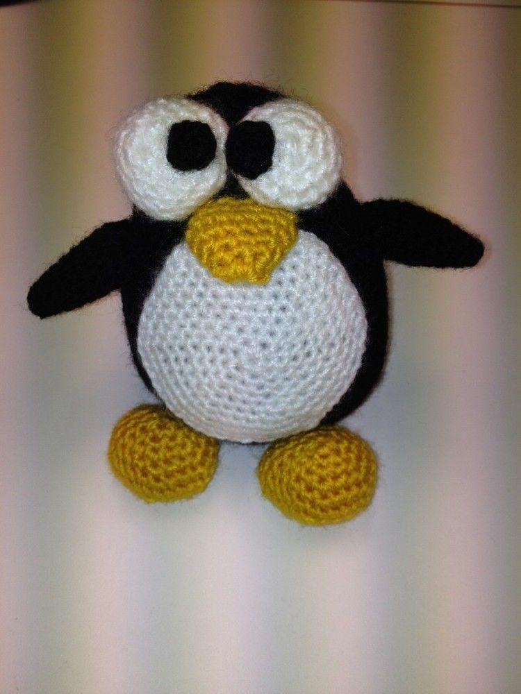 pinguino amigurumi paso a paso