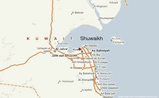 Located immediately west of Kuwait City on the southern