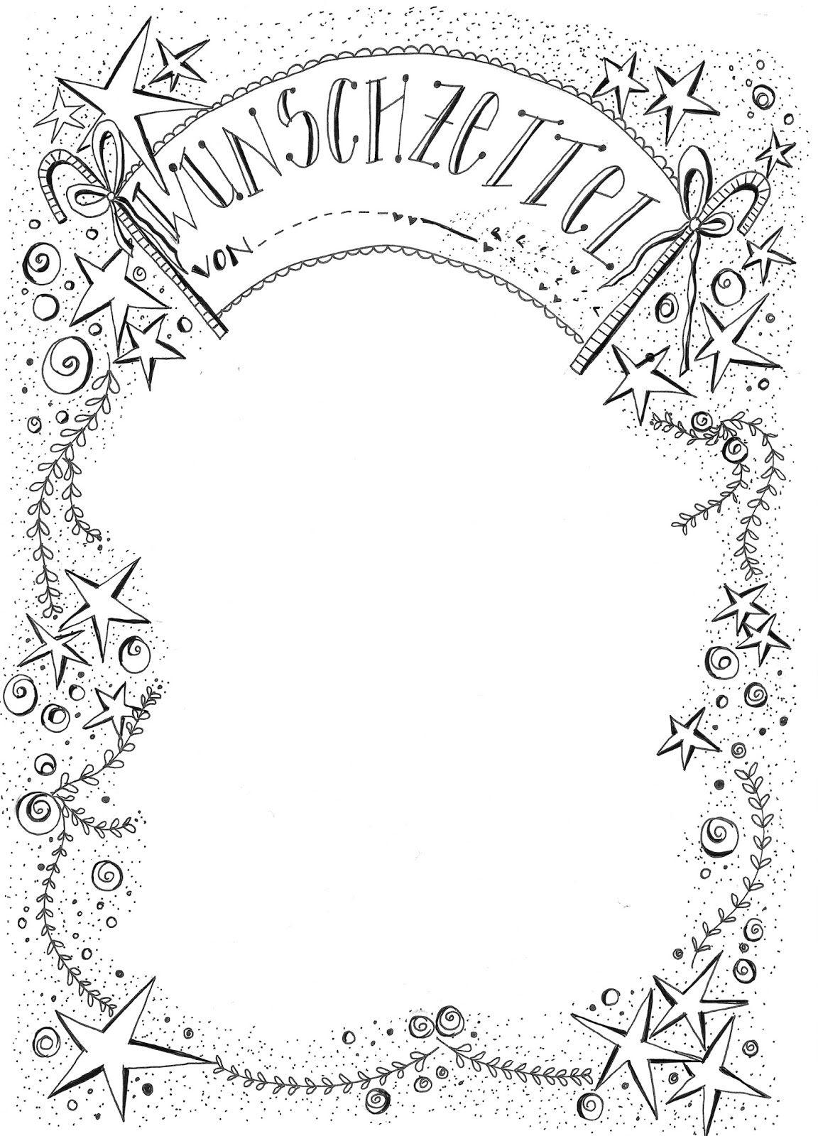 Wunschzettel Vorlage #1.adventspruch